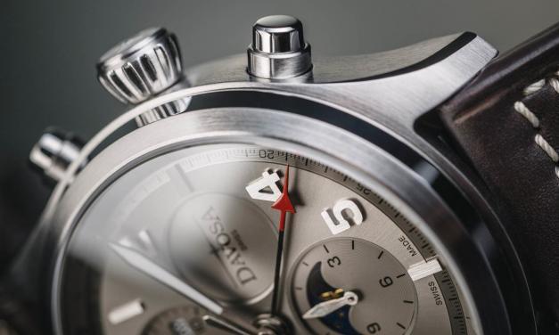 Hodinky Davosa Newton Pilot Moonphase Chronograph
