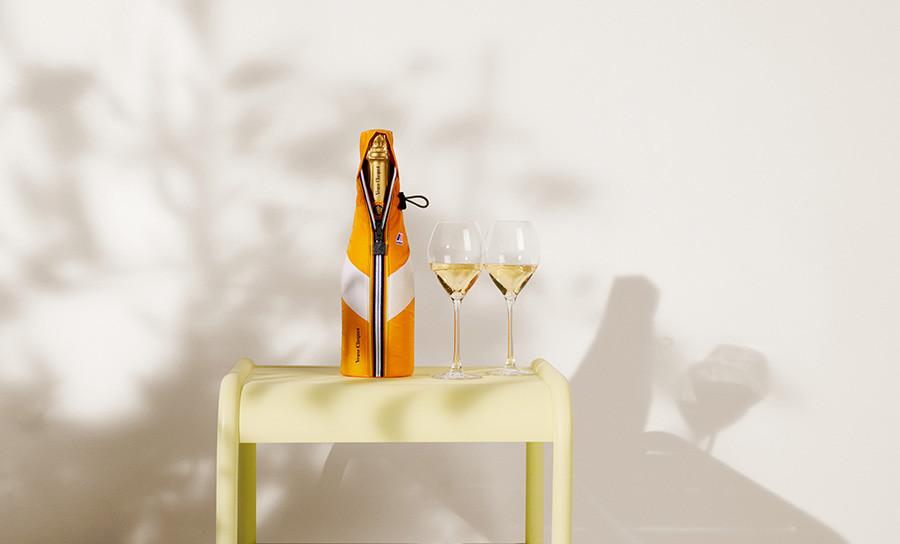 Veuve Clicquot ve spolupráci s barevnými pláštěnkami K-WAY®